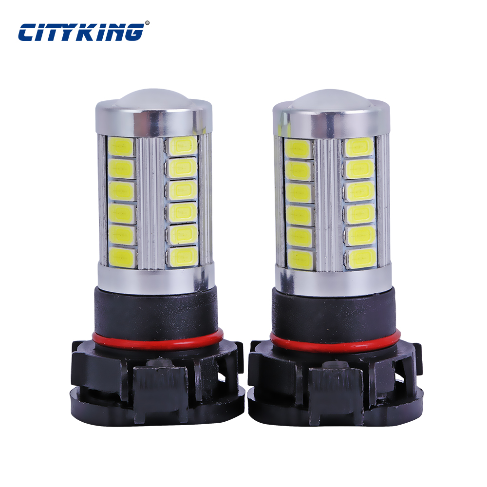 Cityking 1PCS High Power White h11 H16 led 33smd 5730 30w Car Fog lamp LED Headlight Driving Lights Bulb For DC 12V Car Vehicles high quality h3 led 20w led projector high power white car auto drl daytime running lights headlight fog lamp bulb dc12v