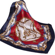 Ladies Satin Stewardess Career Small Small Square Silk Scarf Ever-Changing Magic Scarf 2016 New