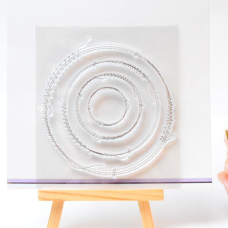 DECORA 1PCS Circle Design Silicone Transparent Clear Stamp DIY Scrapbooking Baby Shower Christmas Decoration Supplies аксессуары sonance vc60s decora white