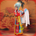 Peking Opera stage costume drunk Lady role colorful palace Outfit of Queen Princess Golden Branch Clothing drama Gui Fei Zui Jiu