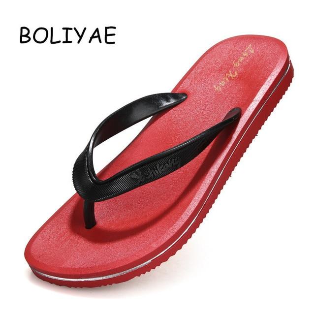 new fashion Summer outdoor male leisure men's Cool flip flops non-slip pinch beach wear-resistant slippers sandals