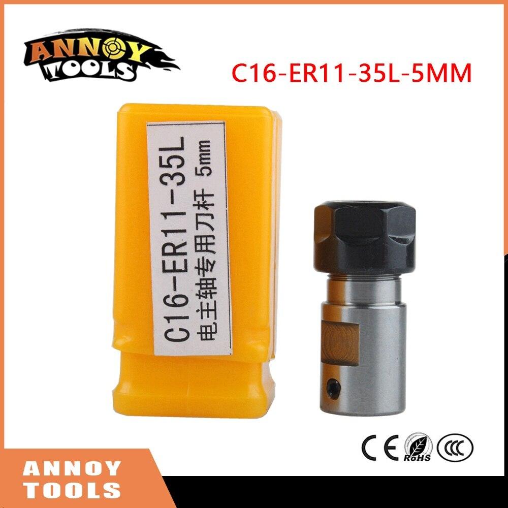 Broche moteur pince tige C16 ER11 35L 5mm arbre moteur allongé de serrage couteau gravure machine drill set