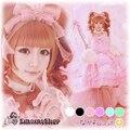1 Unidades de Super Lindo Crown Hairband Cinta de Encaje Hecho A Mano de Lolita AP AMO Estilo Japonés Banda Para el Cabello 6 Colores