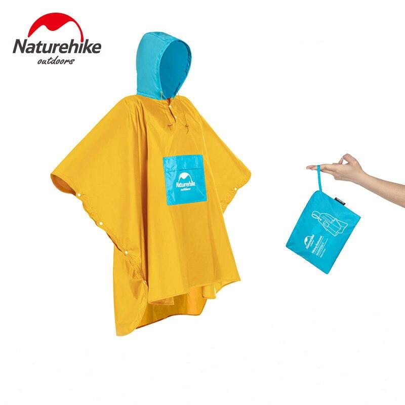 Naturehike 2019 New Portable Ultralight Waterproof Windbreaker Poncho Raincoat Hiking Outdoor Rain Protection For Man And Women