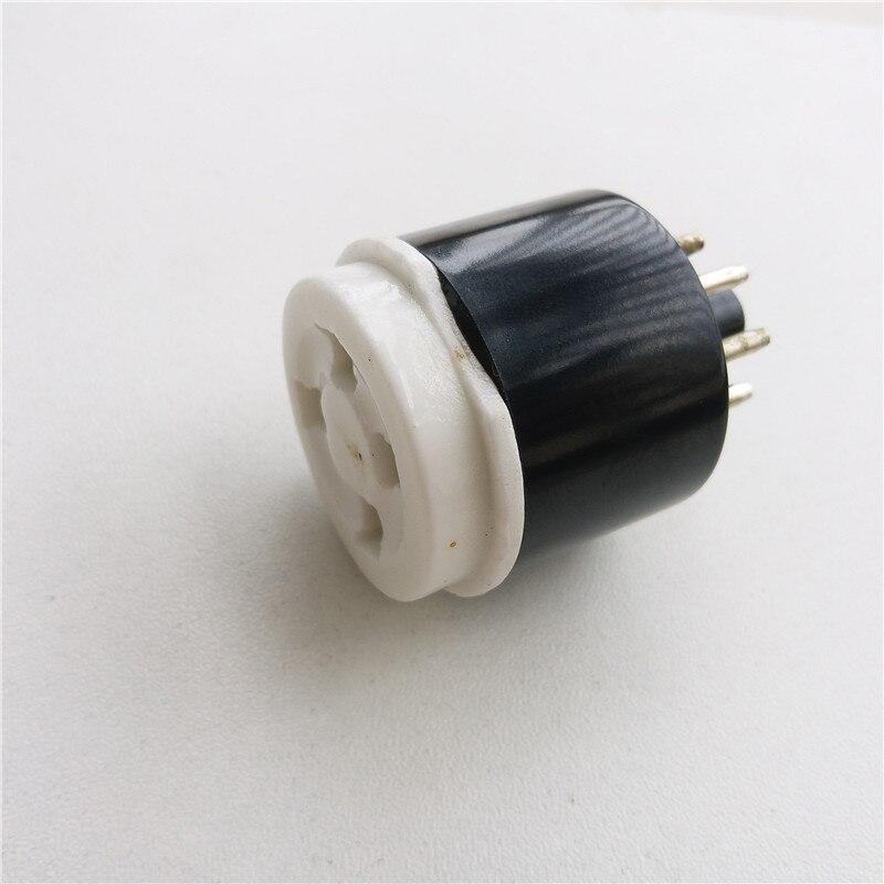 2pcs bakelite tube socket GZS8-C4 4 pin to 8 pin seat tube socket silver foot PCB for tube amplifier 2pcs ceramic tube socket gzc7 c g tablet 7 pin golden foot for 6c33 fu29 fu19 fu32 fu30