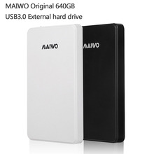 Free shipping MAIWO Original Portable HDD USB3.0 Storage External hard drive 640GB Desktop and Laptop Plug and Play Best price