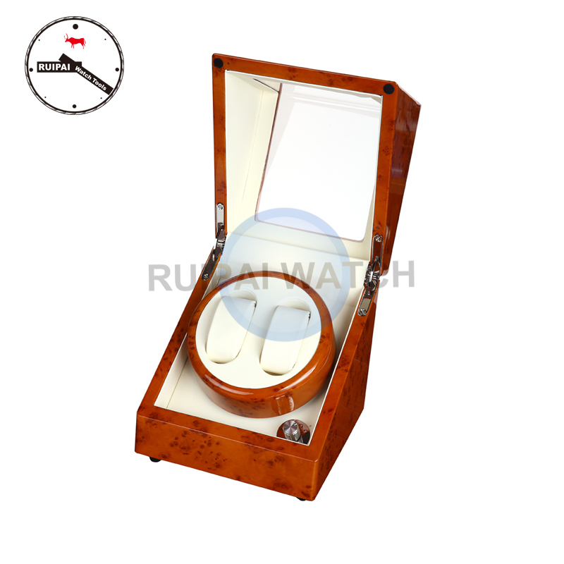 2+0 Orange Paiting High Light Ivory Leather lining Watch Winder, 5 modes 2 Watch Border Automatic Watch Winder watch guess watch page 2