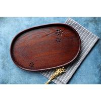 Japan Style SAKURA Hollow Wooden Tea Trays Home Organizer Storage Trays Large Creative Decorative Serving Tray