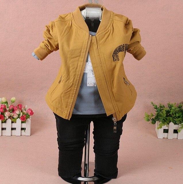 new 2017 spring boys letter casual clothing sets 3pcs kids jacket+t shirt+jeans clothes sets boys autumn apparel suit set boy