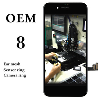 10PCS LOT Brand New Without Bad Pixel LCD Display Assembly With Cold Press Frame For IPhone