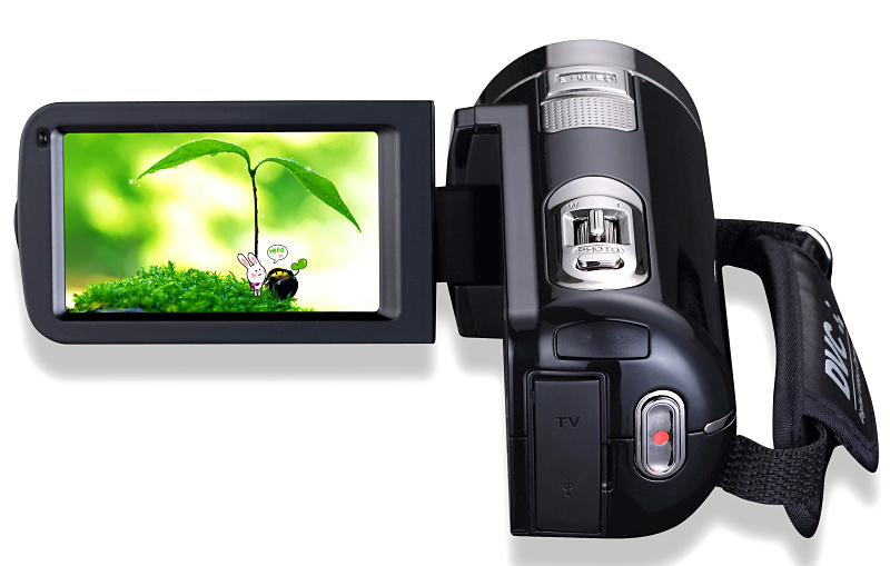 Rechargeable lithium battery full hd 1080p 15fps compact digital video camera  with 3.0'' touch display screen