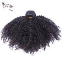 מונגולי האפרו קינקי קרלי Weave שיער הלא רמי תוספות שיער אדם 4B 4C 1 Bundle טבעי שחור 10-22 inch אי פעם יופי