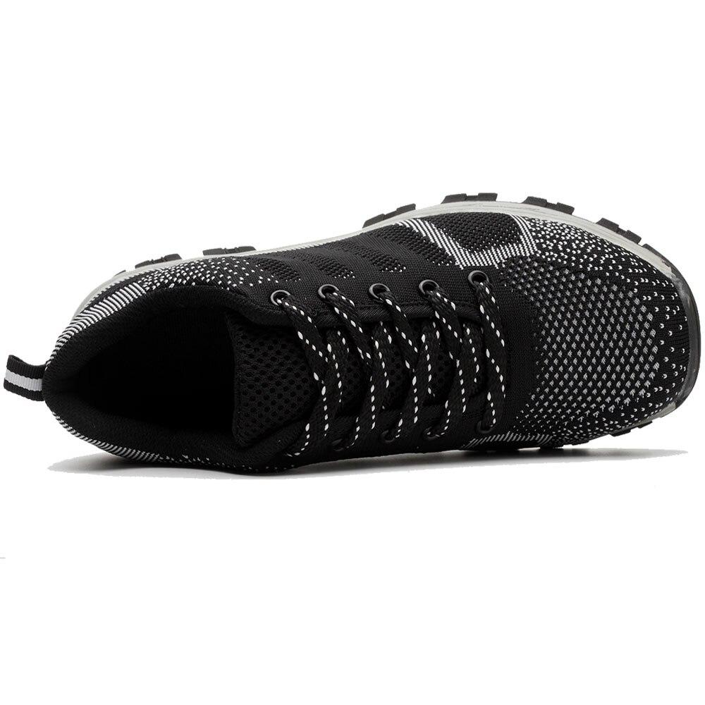 Werkschoenen Laarzen.Plus Size Men Sbreathable Mesh Stalen Neus Werkschoenen Laarzen