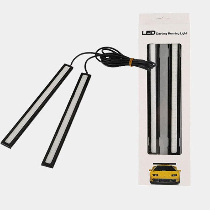 2X Waterproof 12V LED COB Car Auto DRL Driving Daytime Running Lamp Fog Light EN