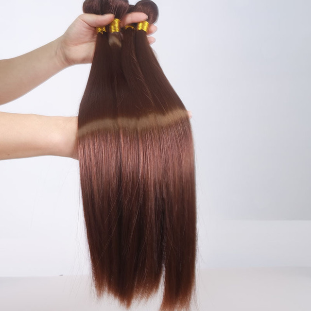 16 24straight Black Brown Synthetic Hair Extensions Feshfen Heat