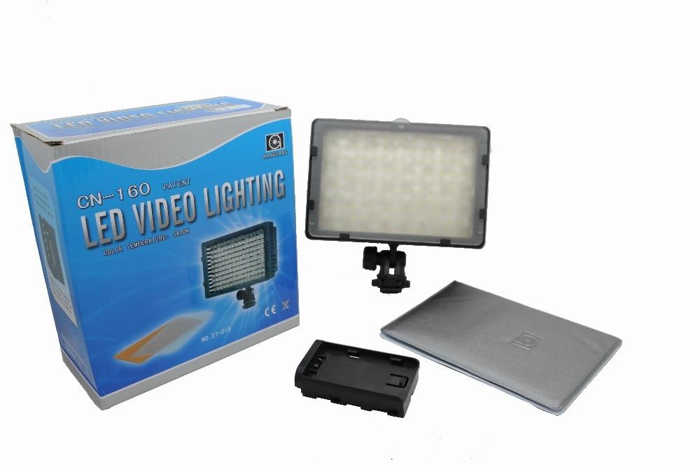 Nanguang CN 160 CN 160 LED Video Camera Light DV Camcorder Photo Lighting 5400K For Canon