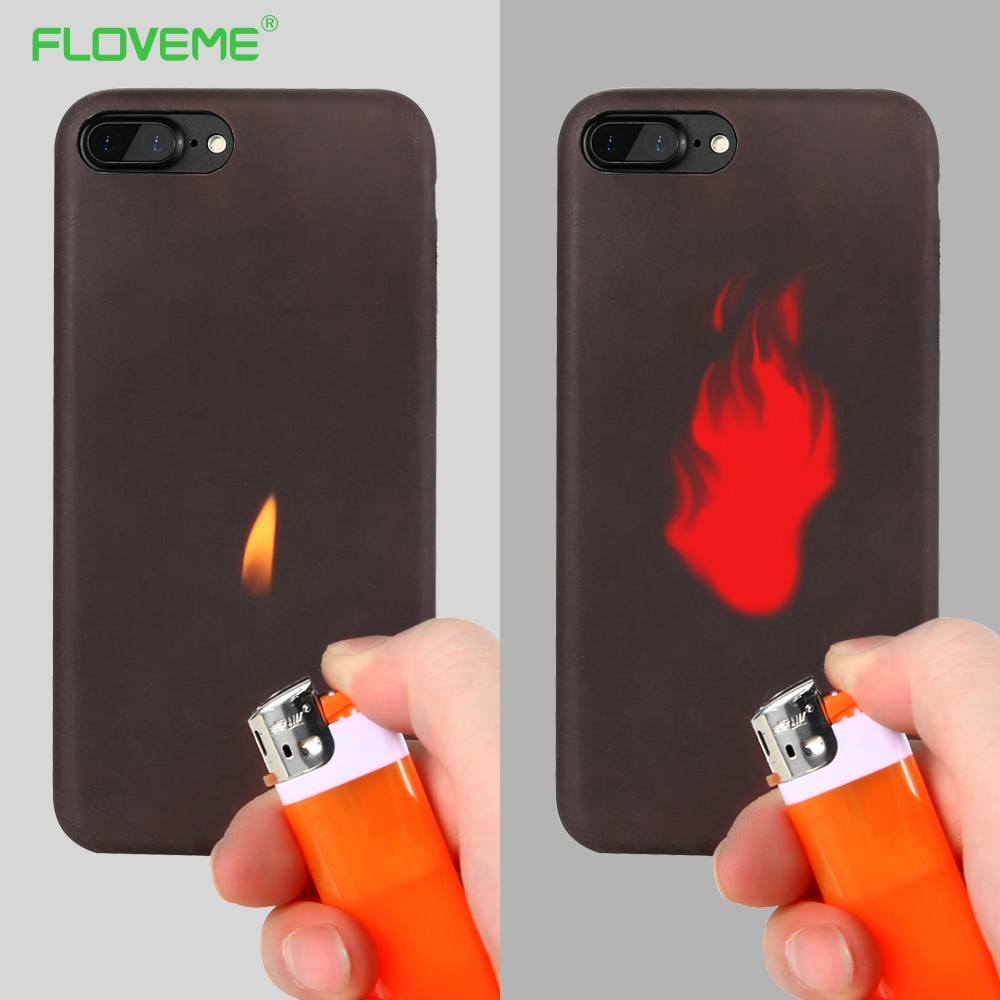 floveme matte pc thermal sensor case for iphone 6 6s thermal heat induction soft case fundas for. Black Bedroom Furniture Sets. Home Design Ideas