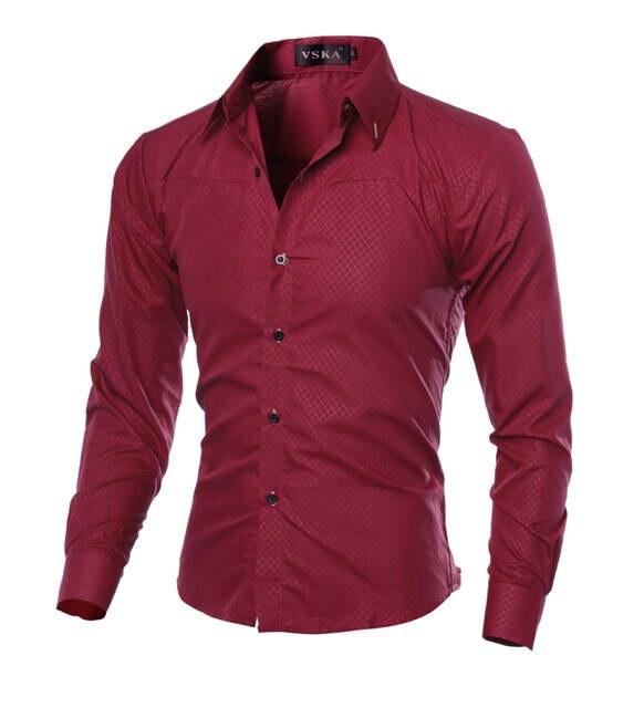 3e604da38f Camisas Hombre Vestir Dress Shirts Mens Shirt Slim Fit Chemise Homme Men  Shirt Solid Mesh Heren