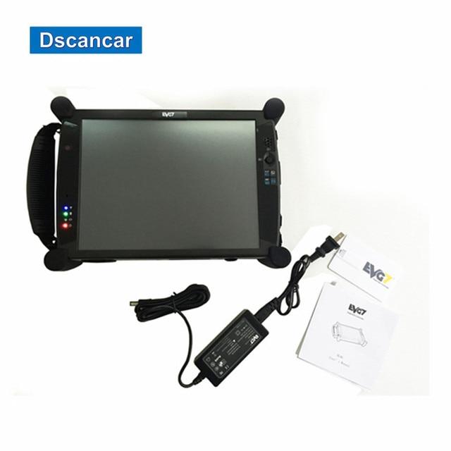 Original EVG7 DL46/HDD500GB/DDR2GB Diagnostic Controller Tablet PC EVG7 DL46 Laptop Full-compatible for Car Diagnostic Software