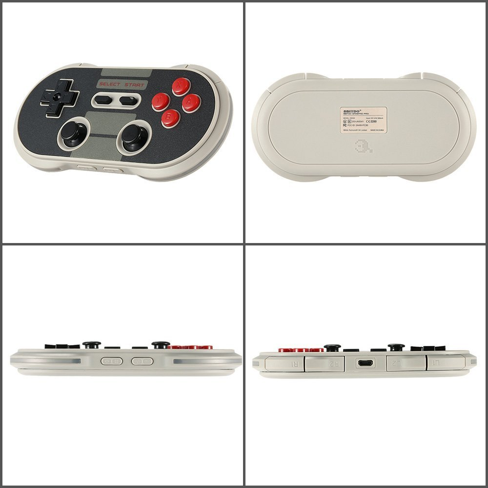 Top Deals 8Bitdo Wireless Bluetooth NES30 Controller Bluetooth 3.0 Gamepad Multi Working Mode Game Console for iOS Android PC free shipping 8bitdo xtander for fc30 pro nes30 pro gamepad only xtander