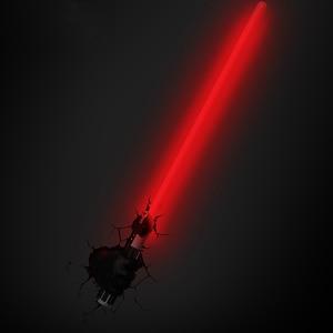 Image 4 - Novelty 3D Wall Lamp Star Wars Decor Light Death Star Master Yoda BB 8 R2D2 Darth Vaders Lightsaber Cordless Battery Operated