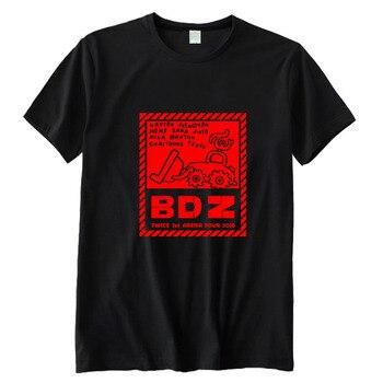 b6f033957 Kpop dos veces arena tour concierto bdz mismo todos los miembros nombre  impreso o cuello manga corta Camiseta unisex negro/ blanco camiseta de moda