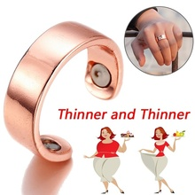 Magnetic Slimming Health Ring Keep Slim Fitness Acupoints Stud Weight Loss Keep Fit Slimming Ring Fat Burning Lazy Paste Slim(China)