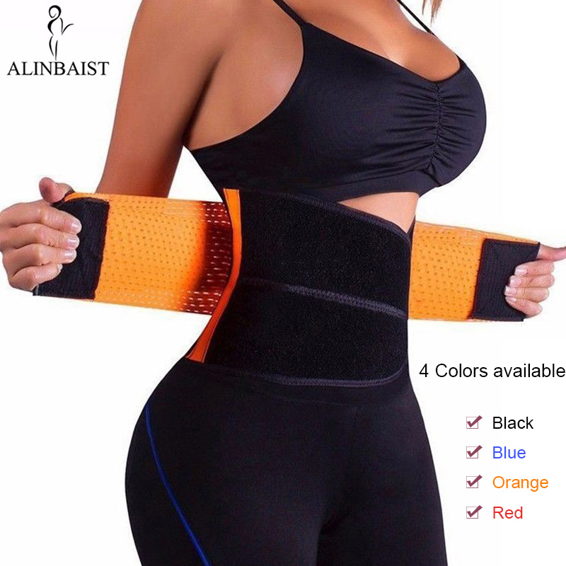 Neoprene Sweat Belt Waist Trainer Workout Trimmer Hot Body Shaper Weight Loss Exercise Slimming Girdle Waist Support Women Men