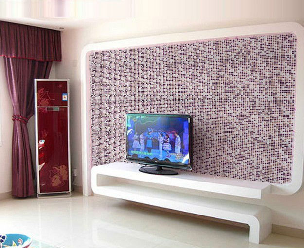 Glasiertem Porzellan Fliesen Platten Küche Backsplash Ideen Lila Keramik  Mosaik Kunst Wand Fliesen Schwimmbad Grenze Boden