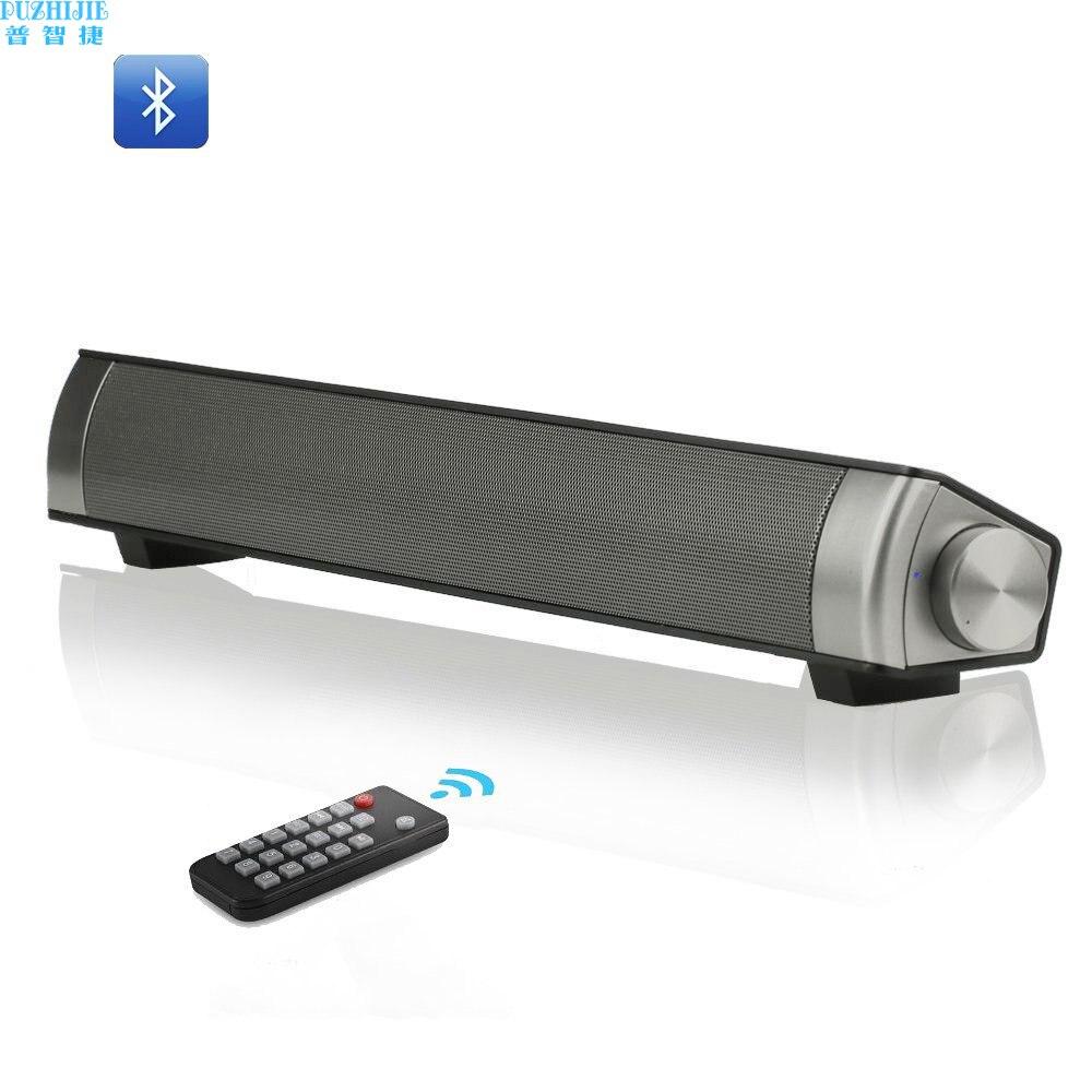 SchöN Puzhijie Drahtlose Bluetooth Lautsprecher Sound Bar Lp08 Mit Fernbedienung Subwoofer 10 Watt Stereo Lautsprecher Für Computer Hohe QualitäT Und Geringer Aufwand Unterhaltungselektronik