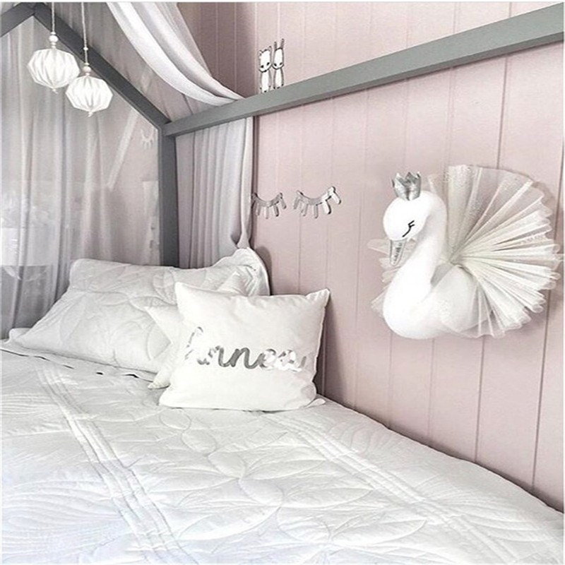 Cute-Golden-Crown-Swan-Wall-DecorationDoll-Pink-Princess-Swan-Stuffed-Toys-Animal-Head-Wall-Hanging-for (3)