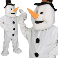 Deluxe Snoman Mascot Mens Fancy Dress Costume Christmas Mascot OS