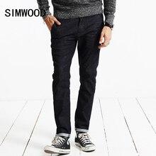 Simwood новый осень 2017 г. Джинсы для женщин Для мужчин Винтаж джинсовые штаны Повседневные штаны для мужчин Slim Fit брендовая одежда мужской джинсовой Мотобрюки SJ6071