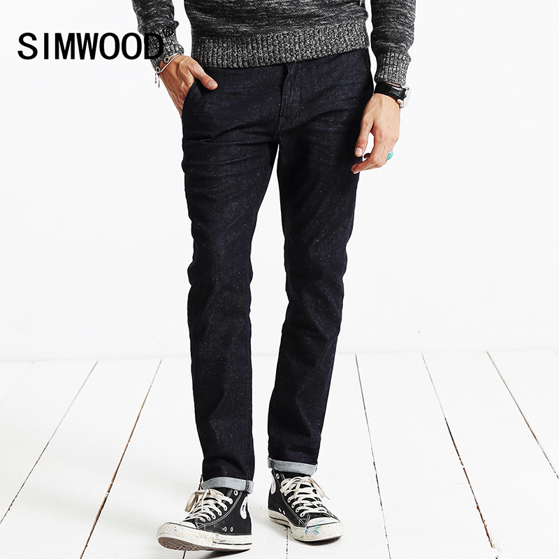 SIMWOOD New 2017 Spring Jeans Men Vintage Denim Pants Casual Pants Slim Fit Brand Clothing SJ6071