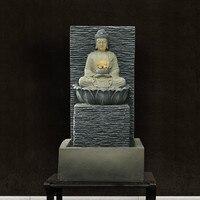 Creative Resin Desktop Water Fountain Living Room Decoration Crafts Handmade Sculpture Buddha Water View Wedding Gift