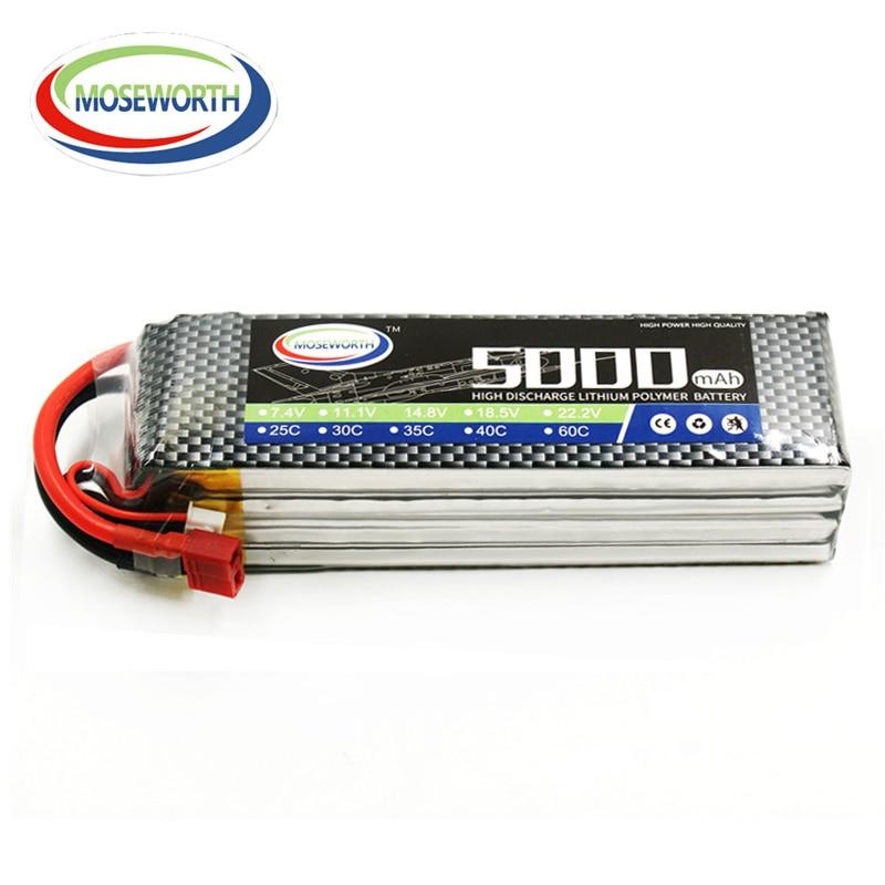MOSEWORTH 4S RC Lipo Batería 14.8v 5000 mAh 25C Para RC Aviones - Juguetes con control remoto