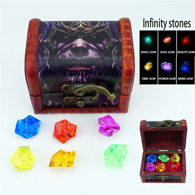 Infinity Stones Set Of All 6 Gems Avengers Infinity War Acrylic Beads Jewelry Accessories Cosplay Diy Props Gift