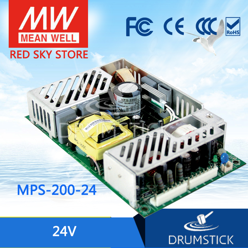 цена на Selling Hot MEAN WELL MPS-200-24 24V 8.4A meanwell MPS-200 24V 201.6W Single Output Medical Type