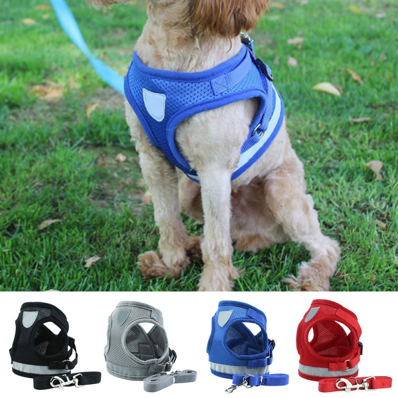 Harnesses Nylon Reflective Dog Harnesses Vest Pet Walking Harnesses Leash Nylon Mesh Walking Training Lead Leash Small Medium Large Dog To Win A High Admiration