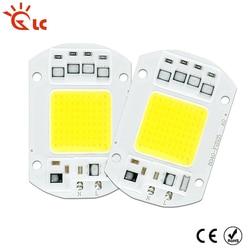 COB Светодиодная лампа чип 5 Вт 10 Вт 20 Вт 30 Вт 50 Вт Светодиодная COB лампа 220 В умный IC драйвер холодный теплый белый Светодиодный прожектор чип