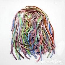50 pces 60cm gradiente cor sólida tpu espiral usb carregador cabo cabo protetor envoltório cabo winder para iphone samsung anel de cabelo