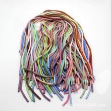 50Pcs 60CM שיפוע צבע מוצק TPU ספירלת USB מטען כבל כבל מגן לעטוף כבל וינדר עבור iphone סמסונג שיער טבעת