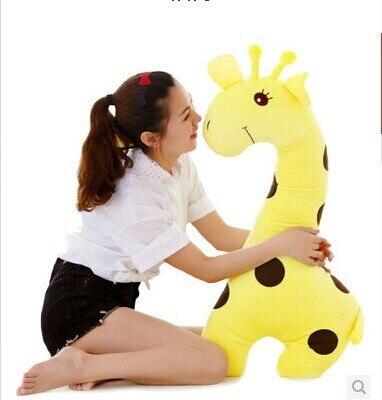 huge 70cm yellow giraffe plush toy cartoon spotted giraffe doll, throw pillow gift b4614 the huge lovely hippo toy plush doll cartoon hippo doll gift toy about 160cm pink