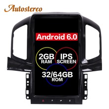 Android 6.0 Tesla style Car No DVD Player GPS Navigation For Chevrolet Captiva 2013 2014 2015 2016 2017 headunit multimedia plus