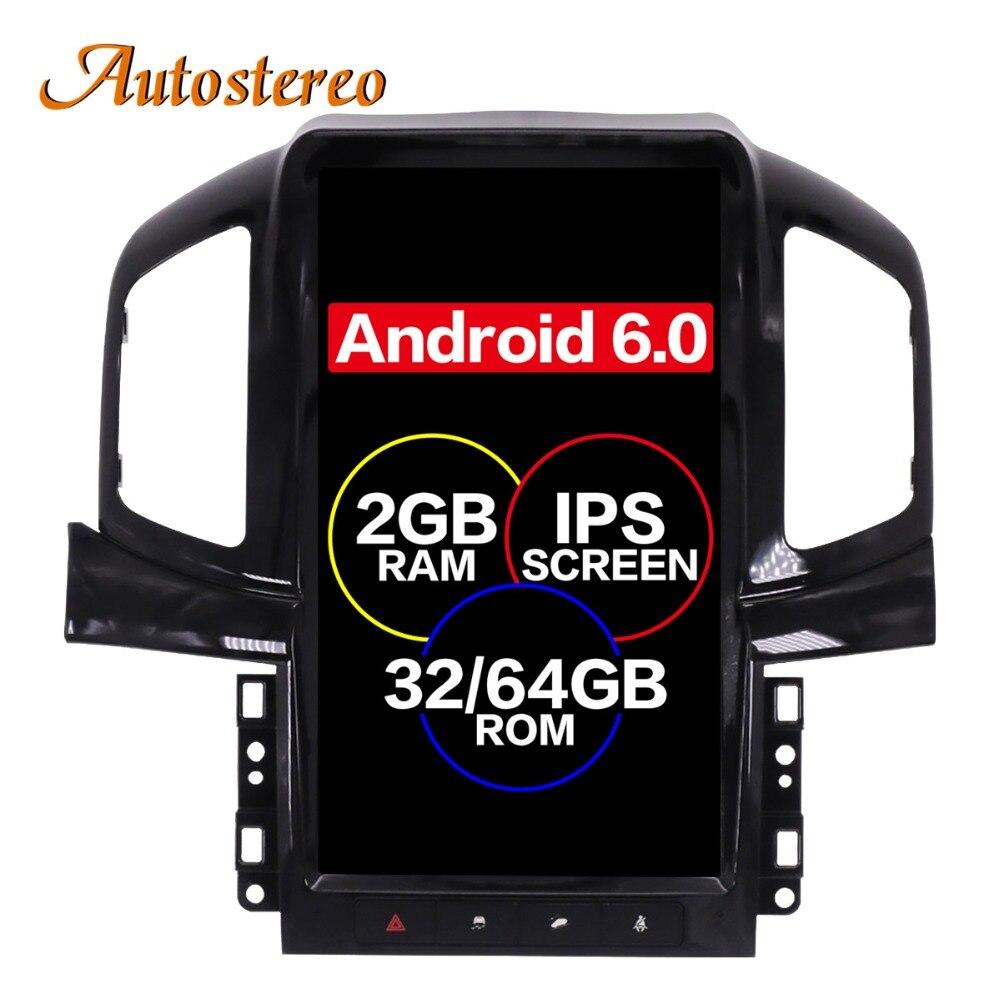 Android 6.0 Tesla style De Voiture Aucun Lecteur DVD GPS Navigation Pour Chevrolet Captiva 2013 2014 2015 2016 2017 headunit multimédia plus