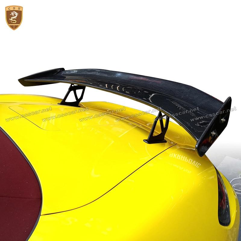 G-t Asa Traseira Spoiler Traseiro De Fibra de carbono Tronco Spoiler Adequado Para 718 987 997 998 981 911 2016 -2018 Track Car Styling