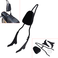 Motorcycle Sissy Bar Backrest Luggage Rack For Harley Sportster XL 883 1200 2004 UP Rear Passenger Seat Cushion #58213