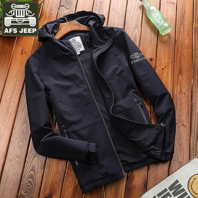 b48a7af04 AFS JEEP Brand Jacket Men Windbreaker Army Military Mens Bomber Jackets  Plus Size M-4XL Hooded Coat Quick Dry Chaqueta Hombre