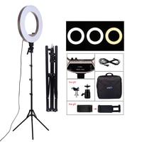 SH 18 дюймов светодиодный осветительный прибор для сьемок 50 W 480 шт светодиодный кольцо света Bi цвет 3200 K 5600 K фотостудии макияж лампы для прямой