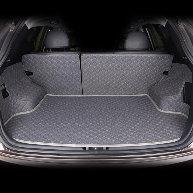 Custom Car Trunk Mat For Hyundai Ix35 Ix25 Sonata Santafe Tucson Elantra Accent Verna I30 Accessories Styling Pad